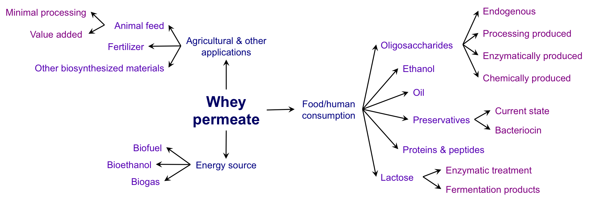 Whey permeate infographic