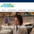 Picture on UC Davis Women & Philanthropy webpage featuring Dr. Daniela Barile and Dr. Tian Tian